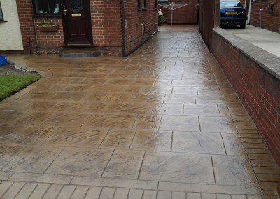 Pattern Imprinted Concrete Driveway