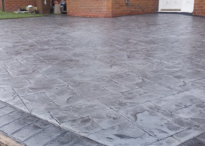 Pattern Imprinted Concrete Courtyard
