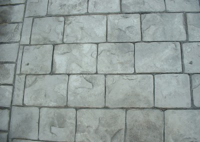 Pattern Imprinted Concrete Driveway London Cobble
