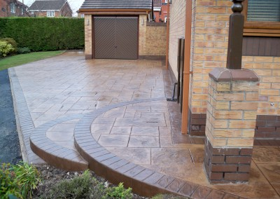 Pattern Imprinted Concrete Driveway & Patio