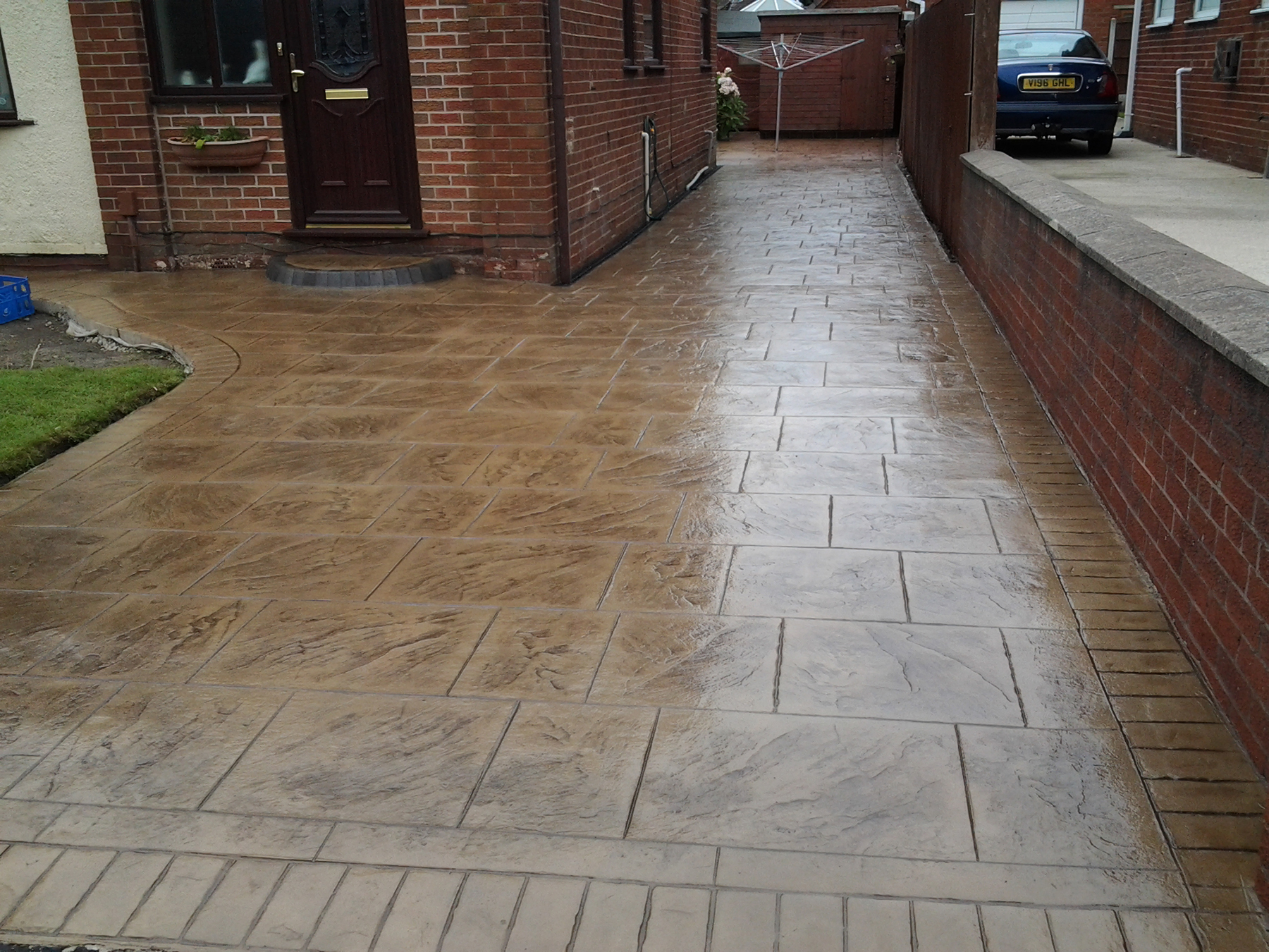 Printed Concrete Driveway >> Pattern Imprinted Concrete Driveways Wigan Dhad
