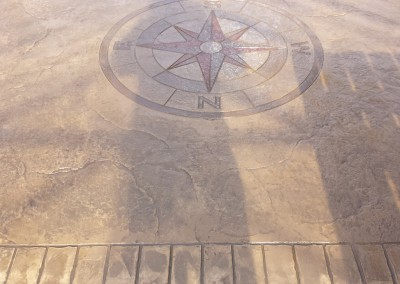 Pattern Imprinted Concrete Compass