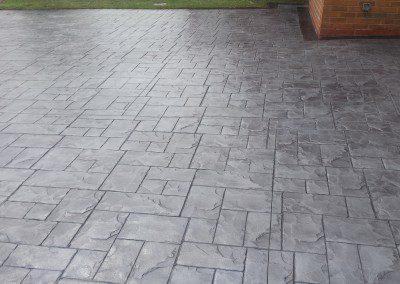 Pattern Imprinted Concrete Path