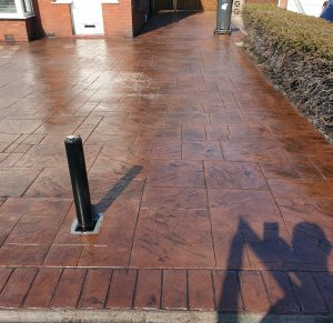 Ashlar Stone Concrete Courtyard Wigan