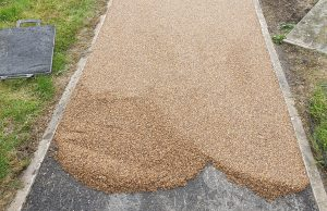 Laying Resin Stone Gravel Pathway Tyldesley Wigan 2