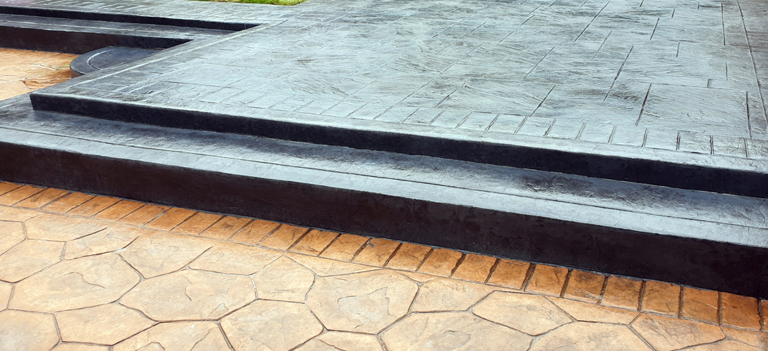 Patterned Concrete Patio in Hindley Wigan