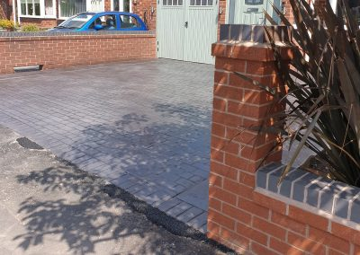 Pattern Imprinted Concrete Driveway in Maghull 12