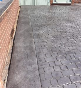 Pattern Imprinted Concrete Driveway in Maghull Merseyside